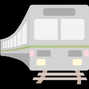 走る電車のイラスト