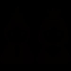 ひな祭りアイコンのシルエットイラスト