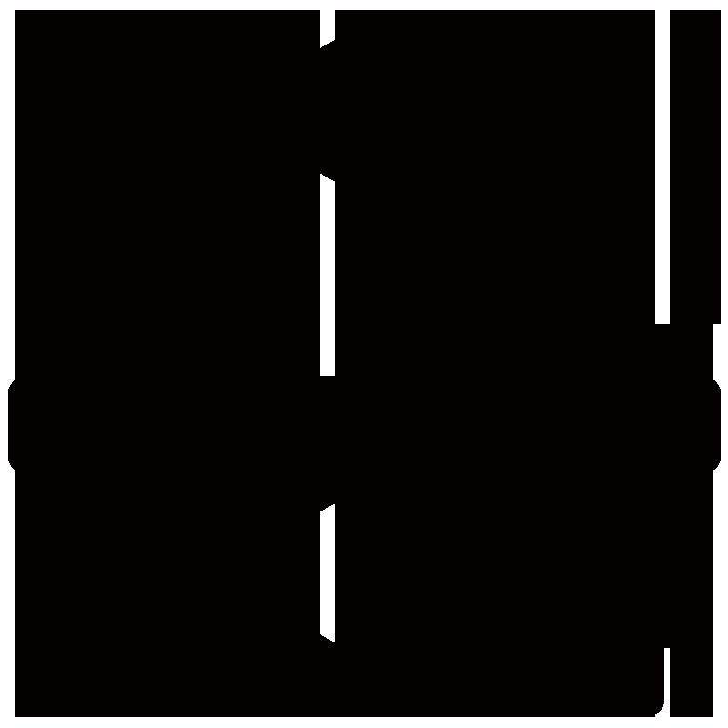 鏡餅アイコンのシルエットイラスト