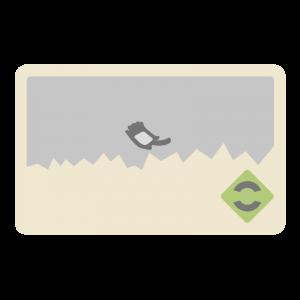 Kitaca風のICカードのイラスト