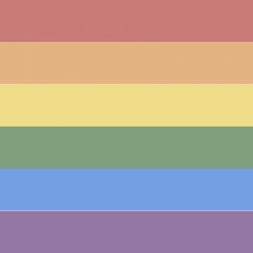 LGBTレインボーフラッグの背景イラスト(パステル風)