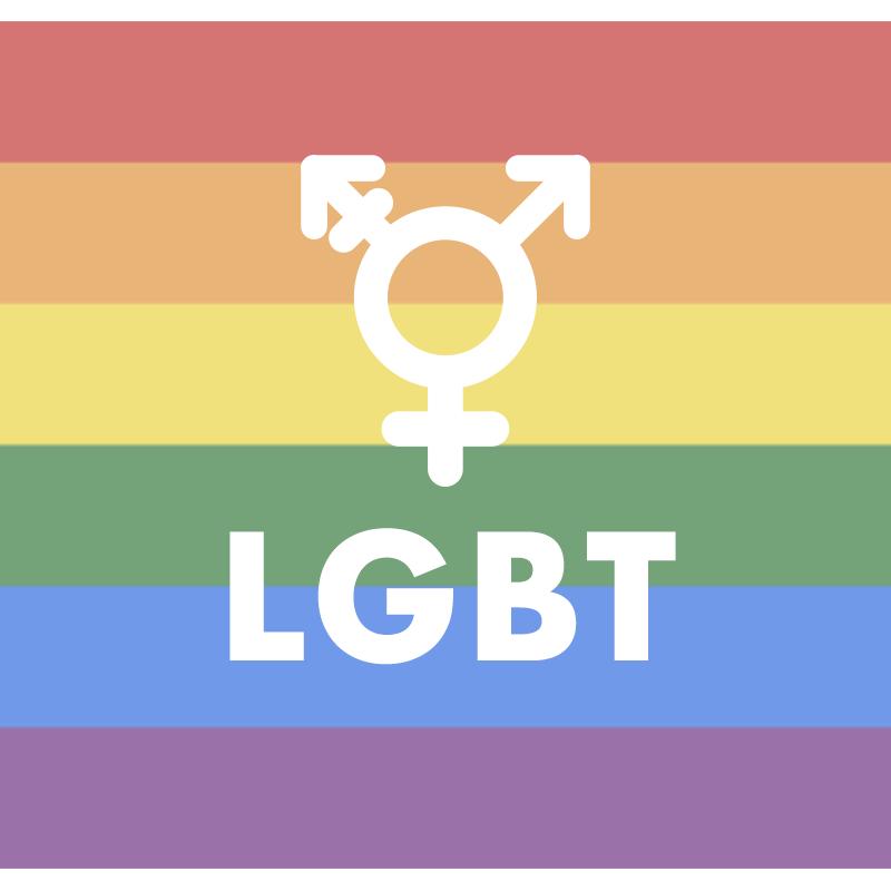 LGBTマークの吹き出しのイラスト