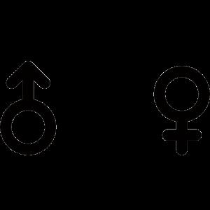多様性のある性別マークのアイコンのイラスト