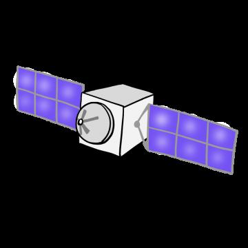 気象衛星のイラスト