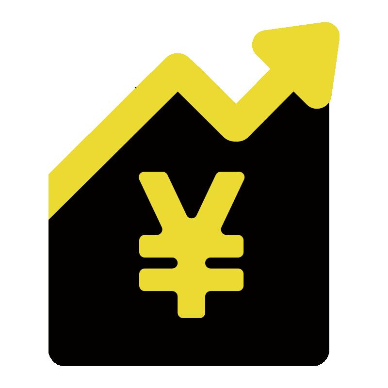 資産運用アイコンのイラスト01