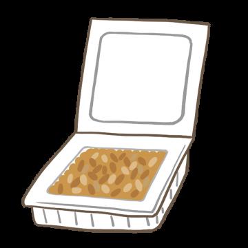 プラスチックパックに入った納豆のイラスト