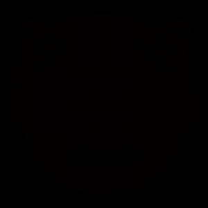 鬼アイコンのシルエットイラスト