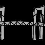 レインボーブリッジの手描きイラスト