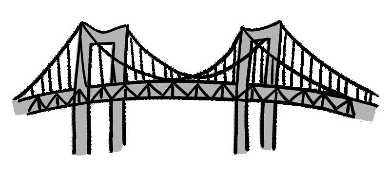 レインボーブリッジのイラスト