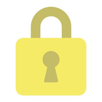 黄色の鍵アイコンのイラスト