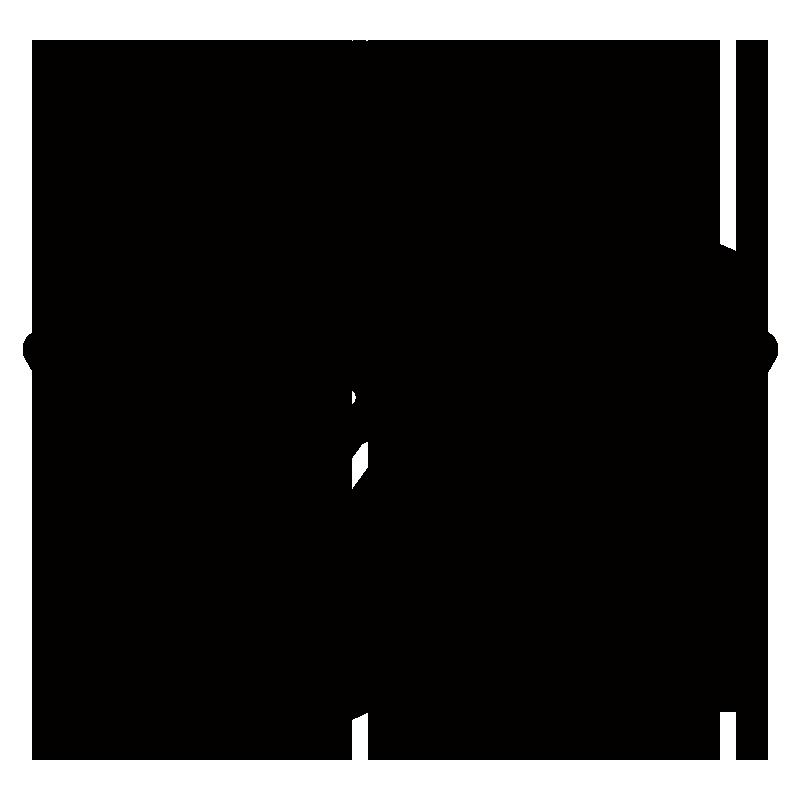 桜アイコンのシルエットイラスト