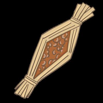 わら納豆のイラスト