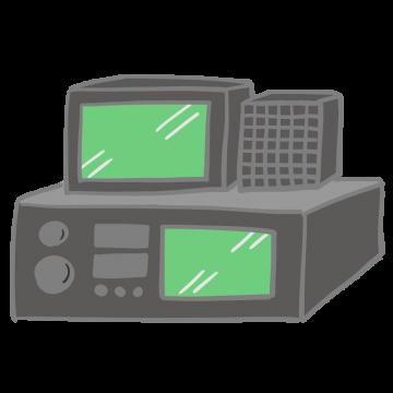 アマチュア無線機のイラスト