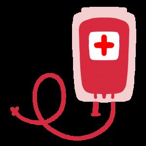 輸血パックのイラスト