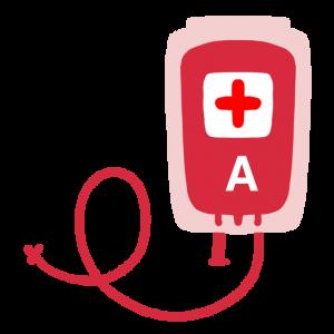 輸血パックのイラスト(A型)