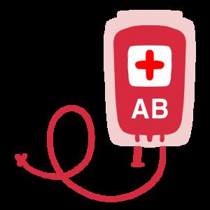 輸血パックのイラスト(AB型)