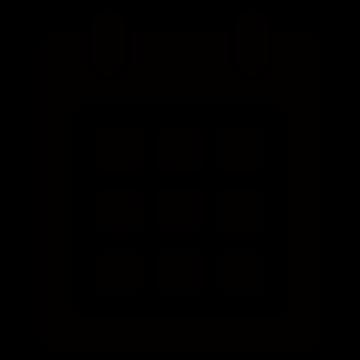 カレンダーアイコンのシルエットイラスト
