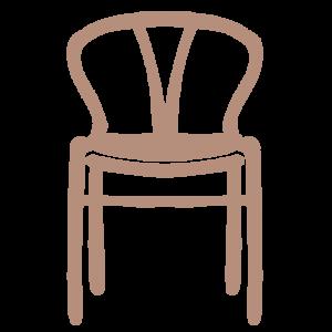 正面から見たシンプルな椅子のイラスト