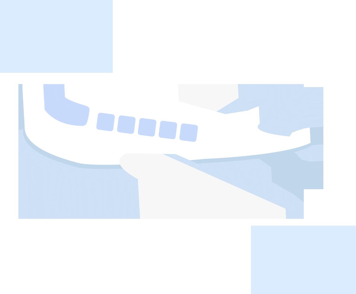 空を飛ぶ飛行機のイラスト