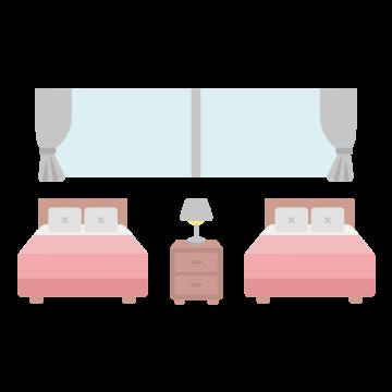 ホテルの部屋のイラスト