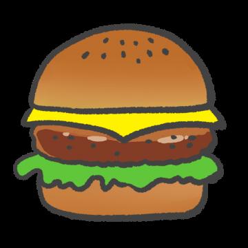 照り焼きハンバーガーのイラスト