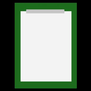 書道の半紙のイラスト