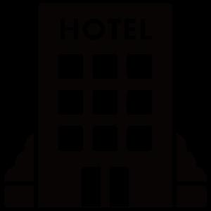 ホテルのシルエットアイコン