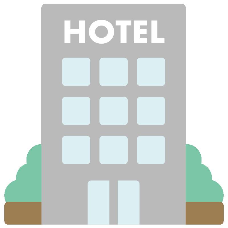 ホテルのアイコンイラスト