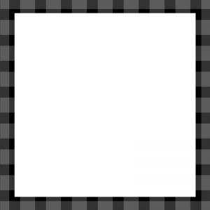 【Instagram用】黒チェックの背景フレームのイラスト
