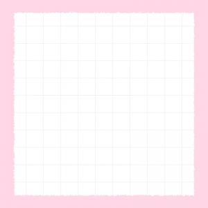 【Instagram用】の方眼紙のピンク背景フレームのイラスト