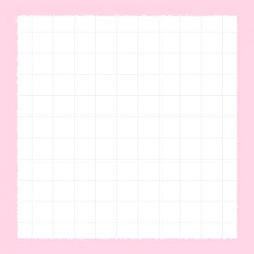 【Instagram用】方眼紙のピンク背景フレームのイラスト