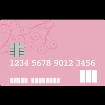 JCB CARD W plus L風のクレジットカードのイラスト