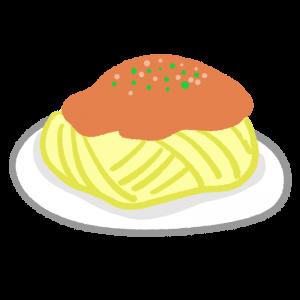 ミートソーススパゲティのイラスト