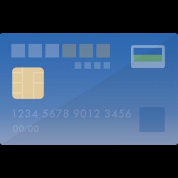 MileagePlusセゾンカード風のクレジットカードのイラスト