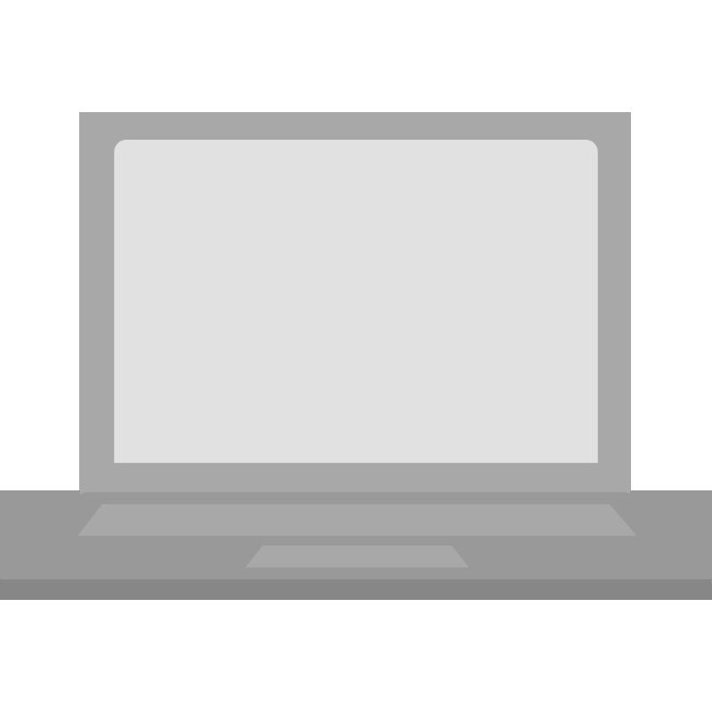 正面を向いたパソコンのイラスト