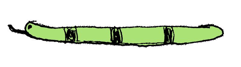 ヘタウマなヘビのイラスト