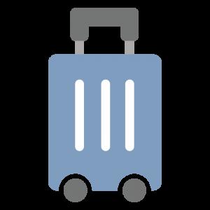 スーツケースのアイコンのイラスト