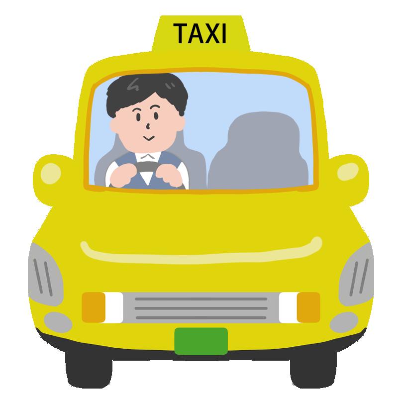 タクシードライバーのイラスト