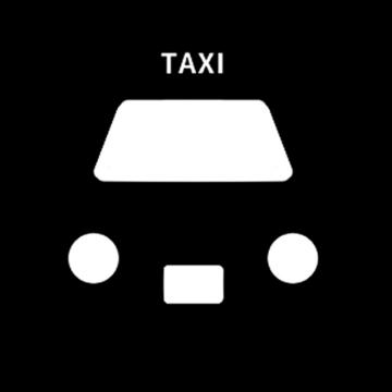タクシーアイコンのイラスト
