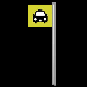 タクシー乗り場のマークのイラスト