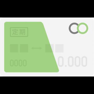 Suica定期券風のICカードのイラスト