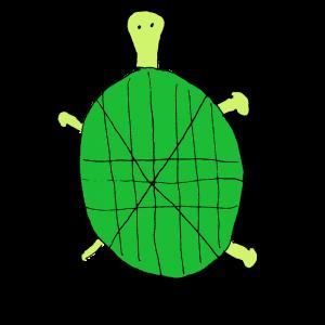 ヘタウマな亀のイラスト アイキャッチ