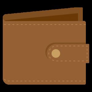 茶色い財布のイラスト