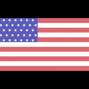 アメリカ合衆国(USA)の国旗のイラスト