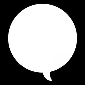 円形の吹き出し(フキダシ)のイラスト