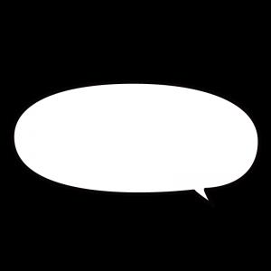 楕円形の横長吹き出しのイラスト