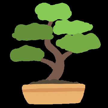 盆栽のイラスト