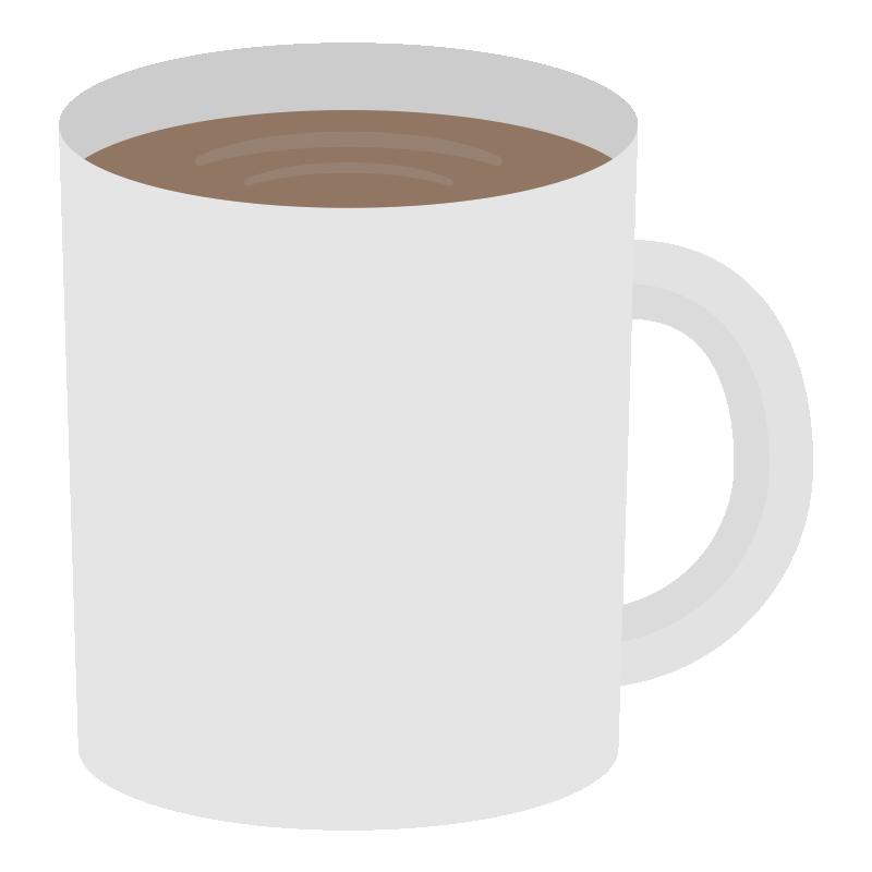 コーヒーが入ったマグカップのイラスト