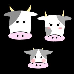 牛のファミリーのイラスト