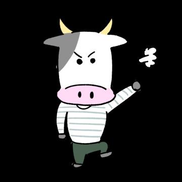 怒る牛のイラスト